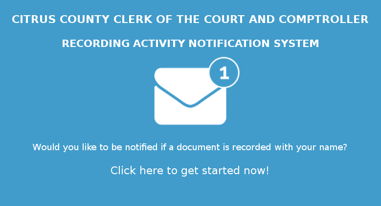 Click Here to sign up for Recording Activity Notification