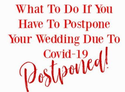 COVID19WeddingPostponed